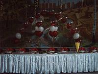 Свадебное украшение зала воздушными шарами, фото 1
