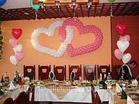 Переплетенные сердечки из воздушных шариков, фото 1