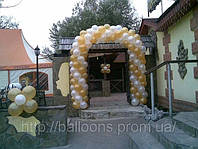 Арка из воздушных шаров при входе в ресторан, фото 1