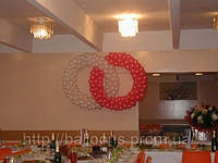 Переплетенные кольца из воздушных шаров, фото 1