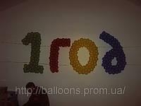 Надпись из воздушных шаров на детский день рождение