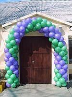 Украшение входа  в кафе из воздушных шаров, фото 1
