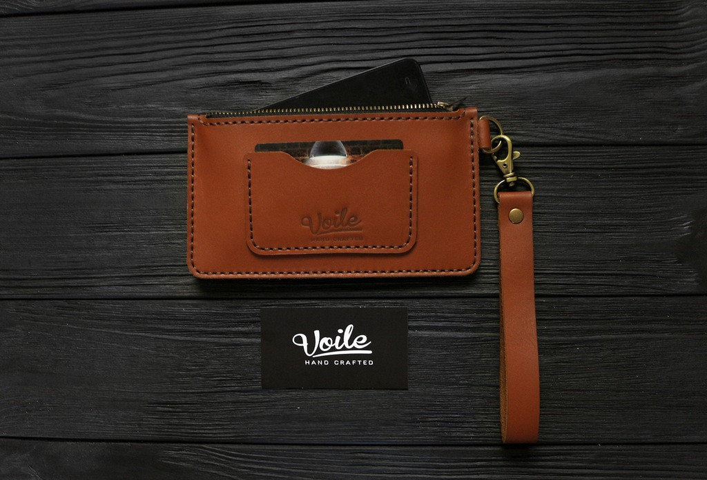 d8c0f1b14d80 Кошелек-чехол для телефона из кожи ручной работы VOILE vl-lw3-kcog-brn,  цена 399 грн., купить в Киеве — Prom.ua (ID#577024898)