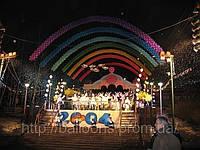 Городская елка 2004 из воздушных шаров