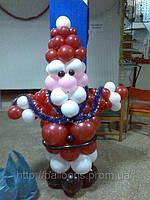 Дед мороз из воздушных шаров