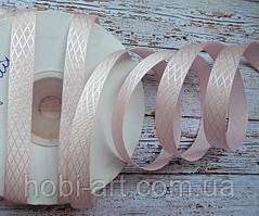 Стрічка атласна 10мм діагоаль № 02  рожева
