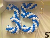 Цифра 35 из воздушных шариков