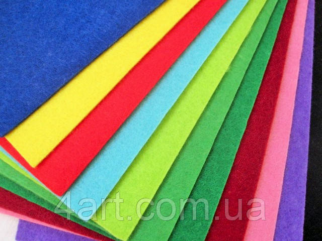 Набор жесткого фетра 3 мм (12 листов А4)