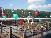 Оформление мероприятий летающими воздушными шарами