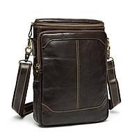 Мужской мессенджер из натуральной кожи, сумка BX207-1C