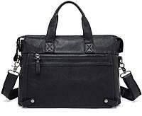 Кожаная мужская сумка через плечо,   7120A-1