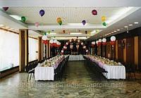 Украшение воздушными шарами, летающие шары, украшение свадеб, украшение шариками, украшение