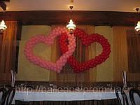 Свадебное оформление воздушными шарами  днепр, шарики на свадьбу, надувные шары на свадьбу, гелевые