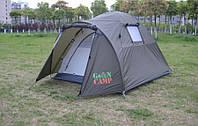 Туристическая двухместная двухслойная палатка Green Camp 3006