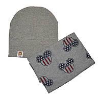Набор шапка и шарф снуд детский и для взрослых