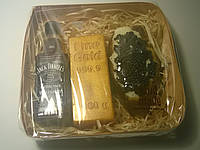 Мыльный набор Виски, слиток золота и бутерброд с икрой