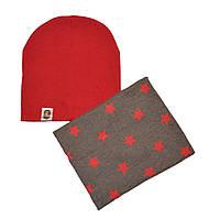 Набор шапка для детей и взрослых и шарф снуд