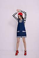 Модный женский джинсовый комбинезон-платье от производителя