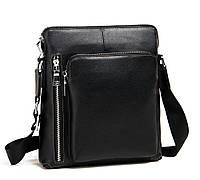 Кожаная  стильная мужская сумка на плечо, мессенджер M341-1A