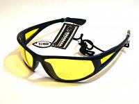 Очки поляризационные желтые 1778 Y (KOSADAKA), неопреновый чехол, шнурок, салфетка для оптики SG1778