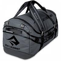 Нестандартная серая дорожная сумка Sea To Summit Duffle 90L Charcoal STS ADUF90CH, 74х37х10 см., 90 л.