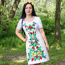 Вышитое атласное платье, фото 2