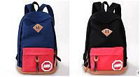 Стильный рюкзак 2 ММ Супер!! В наличии!! Цвет  Чёрный + красный Оригинал ,высококачественный,  фабричный!, фото 1