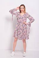 Женское модное платье с длинными рукавами | Цветочный принт
