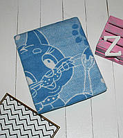 Одеяло байковое детское 100х140 см. Синий