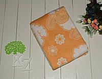 Одеяло байковое детское 110х140 см. Оранжевый