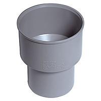 Редукция (чугун)110/124, ПП Инсталпластс раструбом и уплотнительным кольцом для внутренней канализации, серый