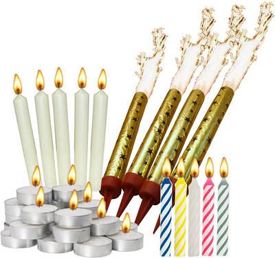 Свечи и фейерверки