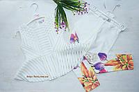 Очень нежный и нарядный костюм на девочку с белыми брюками Тюльпаны