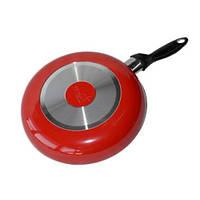 Сковорода Hilton 2233 FP 22см, красная, с крышкой