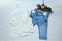 Нарядный белоснежный костюм с блузой с бабочек, воротник в камушках как дополнительное украшение! на девочку