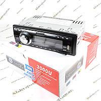 Автомагнитола 3000U USB, FM, SD, AUX, Пульт ДУ, фото 1