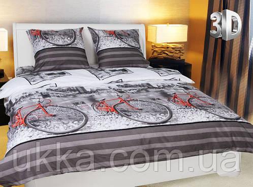 Двуспальное постельное белье 3D Микросатин Калейдоскоп