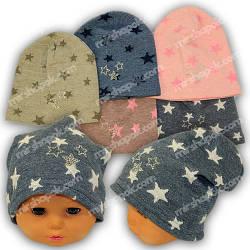 Детские шапки из трикотажа для девочки, 859