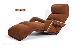 Кресло трансформер с подлокотниками. Кофейное. (C3)