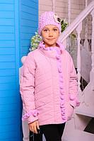Куртка «Одрі», рожевий 122-146 зростання, фото 1
