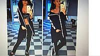 Стильный женский костюм с лампасами 03594