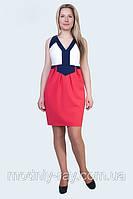 Коммбинированое стильное платье