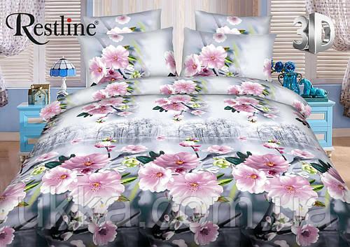 Евро постельное белье 3Д Restline от Теп Микросатин Корсика
