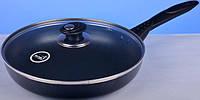 Сковорода Hilton 2425 черная FP 24см, 2,5мм с крышкой