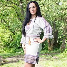 Вышитое ляное платье, фото 2
