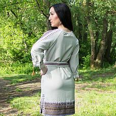 Вышитое ляное платье, фото 3
