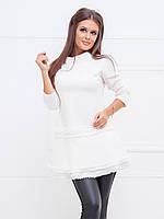 Платье-туника Лия в белом цвете