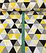 Хлопковая ткань польская треугольники крупные желто-черно-серые №562, фото 2
