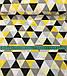 Хлопковая ткань польская треугольники крупные желто-черно-серые №562, фото 3