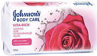 Мыло JOHNSON'S Body Care Vita Rich успокаивающее с розовой водой 125 гр